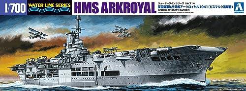 青島文化教材社 1/700 ウォーターラインシリーズ イギリス海軍 航空母艦 アークロイヤル 1941 プラモデル 714