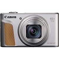 Canon コンパクトデジタルカメラ PowerShot SX740 HS シルバー 光学40倍ズーム/4K動画/Wi…