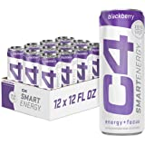 C4 Smart Natural Energy Drinks With Zero Sugar and Zero Calories, Sugar Free, Zero Carbs, | Powered by Green Tea Caffeine and