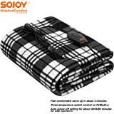 """Sojoy 12V Heated Smart Multifunctional Travel Electric Blanket for Car, Truck, Boats or RV with High/Low Temp Control (60""""x 4"""
