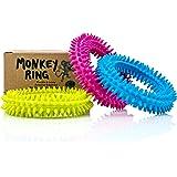 Spiky Sensory Ring / Bracelet Fidget Toy (Pack of 3) - No BPA, Phthalate, Latex - Fidgets Toys / Stress Rings for Children an