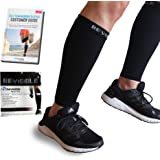 Calf Compression Sleeve Bevisible Sports - Shin Splint Leg Compression Socks for Men & Women - Great for Running, Cycling, Ai