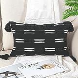 Sungea Black and White Decorative Lumbar Throw Pillow Covers, 12x20 Inch, Boho Farmhouse Modern Home Decor Woven Couch Cushio