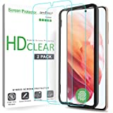 amFilm (2 Pack) Screen Protector for Samsung Galaxy S21 (6.2 Inch), Case Friendly (Easy Install) Hybrid Film Compatible with