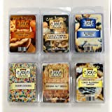 6 Pack Soy Wickless Candle Wax Bar Melts - Yummy Food or Bakery Scents. Holiday Apple Crisp Dup, Blueberry Muffin, Vanilla Pu