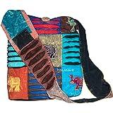 Hobo Colorful Shoulder Crossbody Bag Large Women Sling Slouch Hippie Boho