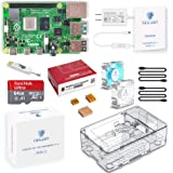 TRASKIT Raspberry Pi 4 Model B /ラズベリーパイ4B(8GB RAM)技適マーク付/MicroSDHCカード64GB NOOBSプリインストール/簡単に取り付けるケース/5.1V/3A Type-C スイッチ付電源/2つ