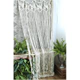 HiPlus Butterfly Macrame Wall Hanging Tapestry- Macrame Curtains for Door,Window,Closet,Room Divider Wedding Backdrop Boho Ho