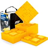 Camco Heavy Duty Leveling Blocks, Ideal For Leveling Single and Dual Wheels, Hydraulic Jacks, Tongue Jacks and Tandem Axles (