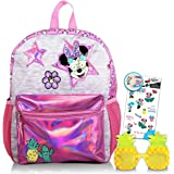 """Disney Minnie Mouse Backpack for Toddlers - 12"""" Minnie Mouse School Bag with Sunglasses and Minnie Stickers (Minnie Mouse Sch"""