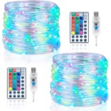 Koxly 120 LED Rope Lights Indoor Outdoor 39.37ft 17 Multi Color Changing Tube String Strip Lighting with Remote 8 Mode Twinkl