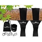Royal Oak Easy Hang (12FT) Tree Swing Strap X2 - Holds 4400lbs. - Heavy Duty Carabiner - Bonus Spinner - Perfect Tire Saucer