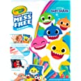 CRAYOLA 757103 Color Wonder Baby Shark Mess Free Colouring Book, Won't Colour on Skin, Fabric or Furniture, Watch Magic Appea