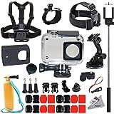 Deyard 35 in 1 Accessories Kit for Xiaomi Yi 4k Yi Lite Yi 4k Plus Action Camera Waterproof Case Housing Chest Harness Mount