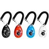 EcoCity 2018 New Upgrade Version Dog Training Clicker with Wrist Strap - Pet Training Clicker Set (4 Pack)