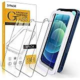 【Amazon限定ブランド】iPhone 12 Mini フィルム iPhone 12Mini ガラスフィルム - 3枚入 高透過率 Arae 飛散防止 9H 旭硝子材 アイフォン12 ミニ 5.4インチ 2020新型 対応用 強化ガラス (Appl