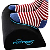 Foot Rest Under Desk Ergonomic Footrest Cushion|Memory Foam Footrest Pillow with Non-Slip Bottom|Leg Pillow for Feet Knee Bac