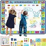Educational Toys, Apsung Reusable Doodle Mat,100 x 100 cm Extra Large Water Drawing Doodling Mat Coloring Mat Educational Toy