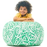 5 STARS UNITED Stuffed Animal Storage Bean Bag - Cover Only - Large Beanbag Chairs for Kids - 90+ Plush Toys Holder and Organ