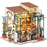 Rolife DIY Tiny House Miniature Dollhouse 3D Wooden Building Kit, Gift for Birthday,Mother's Day, Emily's Flower Shop