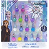Townley Girl Frozen 2 Non-Toxic Peel-Off Nail Polish Set for Girls, Glittery and Opaque Colors, with Nail Gems, Ages 3+, for