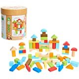 Early Learning Centre Wooden Bricks, Problem Solving, Hand Eye Coordination, Creativity, Toys for Ages 18-36 Months, Amazon E
