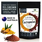 95% Curcumin Turmeric Extract Powder Natural Pure Supplement, Cocoa Flavour, Vegan, Organic, Water Soluble, Non-GMO...