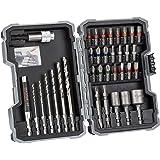 "Bosch Professional 35-Piece Extra Hard Metal HSS Twist Drill Bit & Screwdriver Bit Set (For Metal, 1/4"" Hexagonal Shank, Dril"