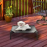 """Petmaker Elevated Pet Bed-Portable Raised Cot-Style Bed W/ Non-Slip Feet, 24.5""""x 18.5""""x 7"""" for Dogs, Cats, and Small Pets-Ind"""