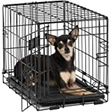 iCrate Midwest Metal Wire Dog Crate with Pan and Divider 18''