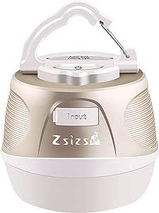Zsizs LEDランタン 2-In-1充電式 キャンプランタン&パワーバンク6000mAh 5調光モード 連続点灯110時間 IP65防水&防塵 携帯便利 多機能 テントライト アウトドア&キャンプ用品 震災 津波 停電 緊急対策 LED キャンプライト
