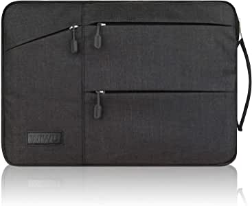 WIWU 裏起毛 PCインナーバッグ 360°保護 11.6/12/13.3/15.6/16インチ 衝撃吸収 防水 pcケース ノートパソコンケース MacBook Air 13/MacBook Pro 13/surface pro/ThinkPad/Dynabook/Chromebook/ラップトップ/ウルトラブック用 PCバッグ (13.3inch ブラック)