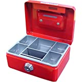 ESSELTE 374035 Cash Box Cash Mate,RED