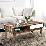 Artiss Wooden Coffee Table - 95(L) x 55(W) x 45(H) cm