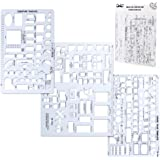 Mr. Pen House Plan, Interior Design and Furniture Templates, Drafting Tools and Ruler Shapes for Architecture - Set of 3