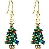 EVER FAITH Austrian Crystal Enamel Cute Gift Bag Hook Dangle Earrings Red