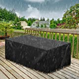 GEMITTO 420D Waterproof Patio Furniture Cover, Square Chair Table Sectional Cover, Anti Wind Dust Durable Outdoor Loveseats C
