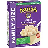 Annie's Shells & White Cheddar Macaroni and Cheese, Family Size, 10.5 oz (Pack of 6)