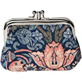 Signare Fashion Tapestry Double Clasp Metal Frame Purse (Floral)