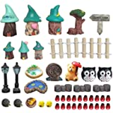 45 Pcs Miniature Fairy Garden Accessories Outdoor - Miniature Fairy Garden Supplies Miniature Garden Accessories with Fairy G