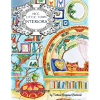 Nice Little Town: Interiors: Adult Coloring Book (Stress Rel…