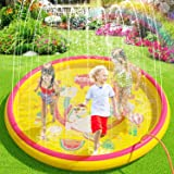 "(68"") Inflatable Sprinkler Splash Pad for Kids Toddlers Dogs, Kiddie Baby Pool, Outdoor Water Play Mat Toys - Baby Infant Wad"