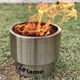 Hi Flame Bonfire Stove Fire All Stainless Steel Heavy Duty Outdoor Smokeless Firepit Portable Backyard Natural Wood Pellet Fi