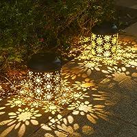 ソーラーランタン ソーラーライト 屋外 2個セットガーデンライト LEDランタン 复古スタイル ガーデンライト ソーラー…