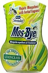 Sawaday Mos-Bye Mosquito Repellent Air Freshener, Lemongrass, 275 ml