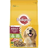 PEDIGREE Adult With Real Beef Dry Dog Food 3kg Bag, 4 Pack, Adult, Small/Medium/Large