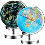 23cm Globe Constellation LED Science Kidz 2 in 1 Illuminated World Globe - Light Up Constellation