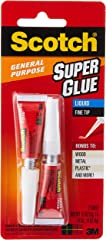 Scotch General Purpose Super Glue, Transparent (Packaging may vary)