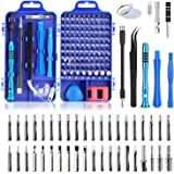 Tobeape 110 in 1 Precision Screwdriver Set with Slotted, Phillips, Torx& More Bits, Non-Slip Magnetic Electronics Tool Kit fo