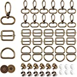 Purse Hardware Buckles Set Cenoz 60pcs Keychain Bulk Including Swivel Clip Hook Slides Buckles D-Ring Metal Buckle Magnetic S